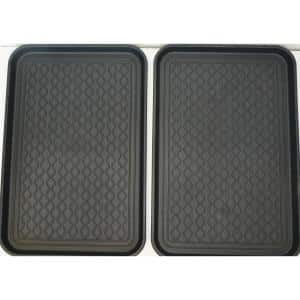 Techno Boot Classic Black 16 in. x 24 in. Polypropylene Multi-Purpose Boot Tray (2- Pack)