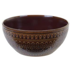 Multi-Colored 152 oz. Aztec Brown Deep Bowl