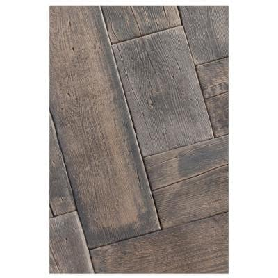 Barn Plank 15.5 in. x 9.75 in. x 2 in. Mahogany Concrete Paver (40-Piece/42 sq. ft./Pallet)