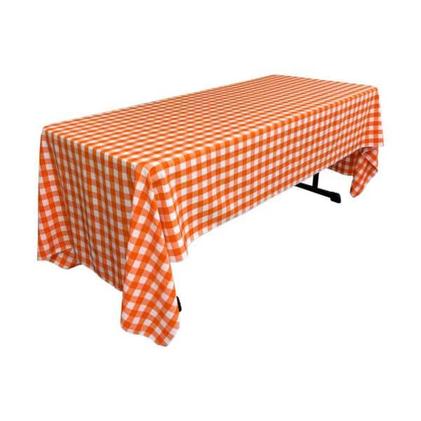 La Linen 60 In X 120 White And, What Size Tablecloth For A 72 Rectangular Table