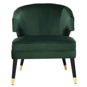 Stazia Forest Green/Black Upholstered Side Chair