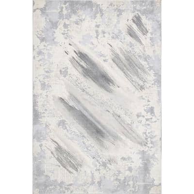 Chroma Abstract Gray 8 ft. x 10 ft. Area Rug