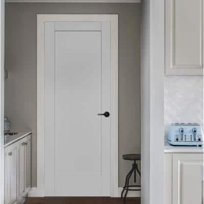 36 in. x 96 in. MODA Primed PMP1011 Solid Core Wood Interior Door Slab