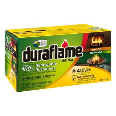 100% Renewable Firelogs 6 lbs. (4-Pack)