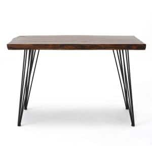 48 in. Rectangular Natural Writing Desk with Solid Wood Material