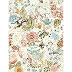 Whimsy Pink Fauna Pink Wallpaper Sample