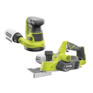 18-Volt ONE+ Lithium-Ion Cordless 3-1/4 in. Planer and 5 in. Random Orbit Sander (Tools Only)