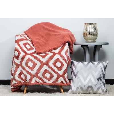 Christie Brick-Dust Throw Blanket