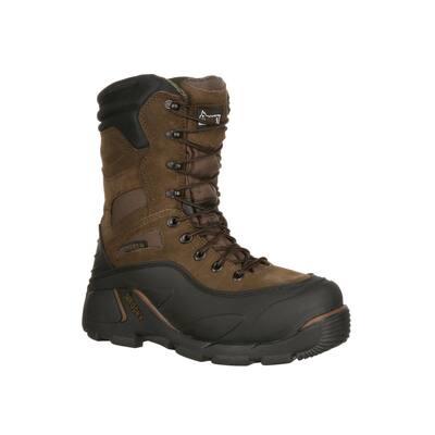 Men's Blizzardstalker Waterproof 9 inch Lace Up Work Boots - Steel Toe - Brown 7 (M)