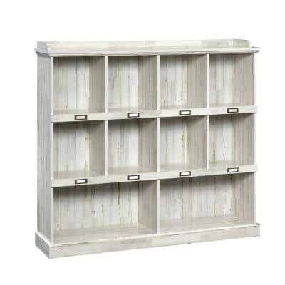 47.5 in. White Plank Faux Wood 11-shelf Standard Bookcase with Cubes