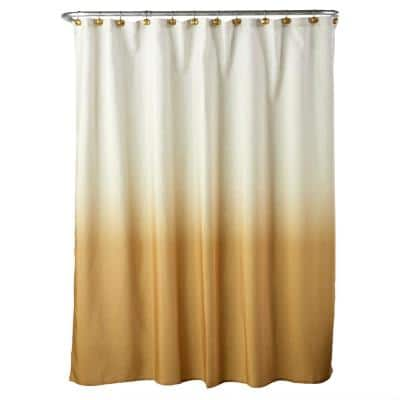Ombre 72 in. Yellow Shower Curtain