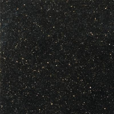 Granite Galaxy Black Polished 12.01 in. x 12.01 in. Granite Floor and Wall Tile (1 sq. ft.)