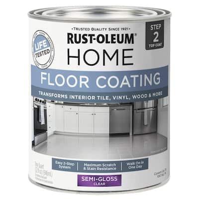 1 qt. Semi-Gloss Clear Interior Floor Topcoat (6-Pack)