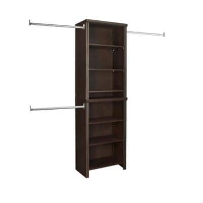Impressions Standard 60 in. W - 120 in. W Chocolate Wood Closet System