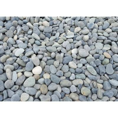10 cu. ft. Mexican Beach Pebbles Grey Decorative Stone - (1 Bag/10 cu. ft./Pallet)