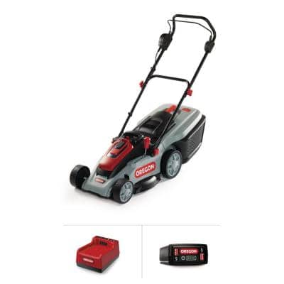 16 in. 40-Volt Brushless Lithium-Ion Cordless Battery Walk Behind Push Lawn Mower with 6.0 Ah Battery and Rapid Charger