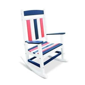 Classic Rocker Patriot Plastic Outdoor Rocking Chair