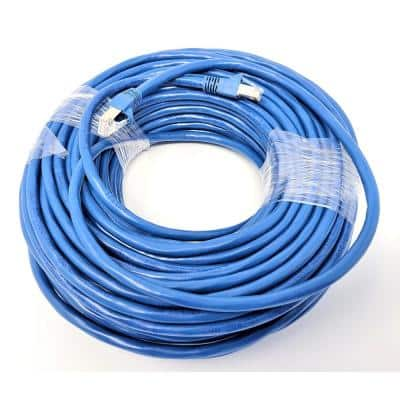 75 ft. CAT 6 A 10G Shielded STP Patch Cable, Blue