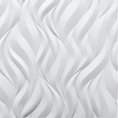 Flames 3/4 in. x 23-1/2 in. x 23-1/2 in. Seamless Foam Glue-Up Wall Panel