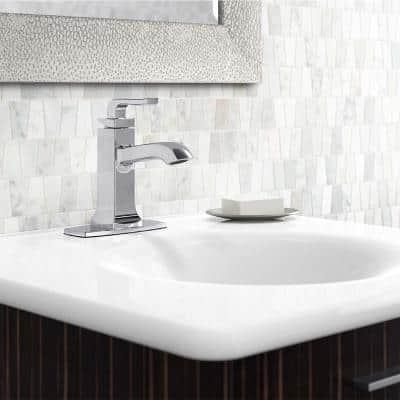 Rubicon Single Hole Single-Handle Bathroom Faucet in Polished Chrome