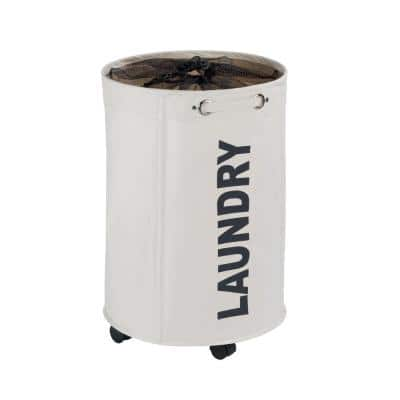 Rondo Beige Laundry Hamper