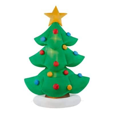 6 ft Pre-Lit LED Animated Airblown Dancing Tree Christmas Inflatable
