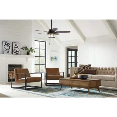 Shanahan 52 in. Bronze LED Ceiling Fan with Light Kit Works, Google Assistant and Alexa