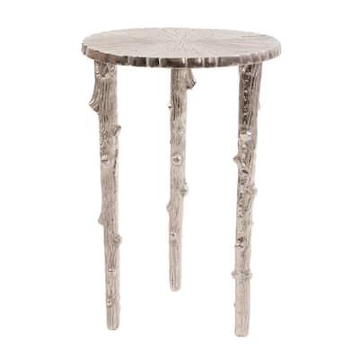 Silver Tree Pedestal Table