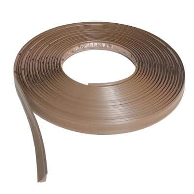 3/4 in. x 50 ft. Light Brown PVC Inside Corner Self-adhesive Flexible Caulk and Trim Molding