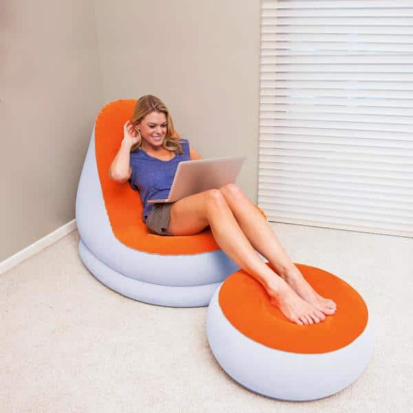 Bestway Inflate-A-Chair 112x112x66 cm Luftsessel LILA