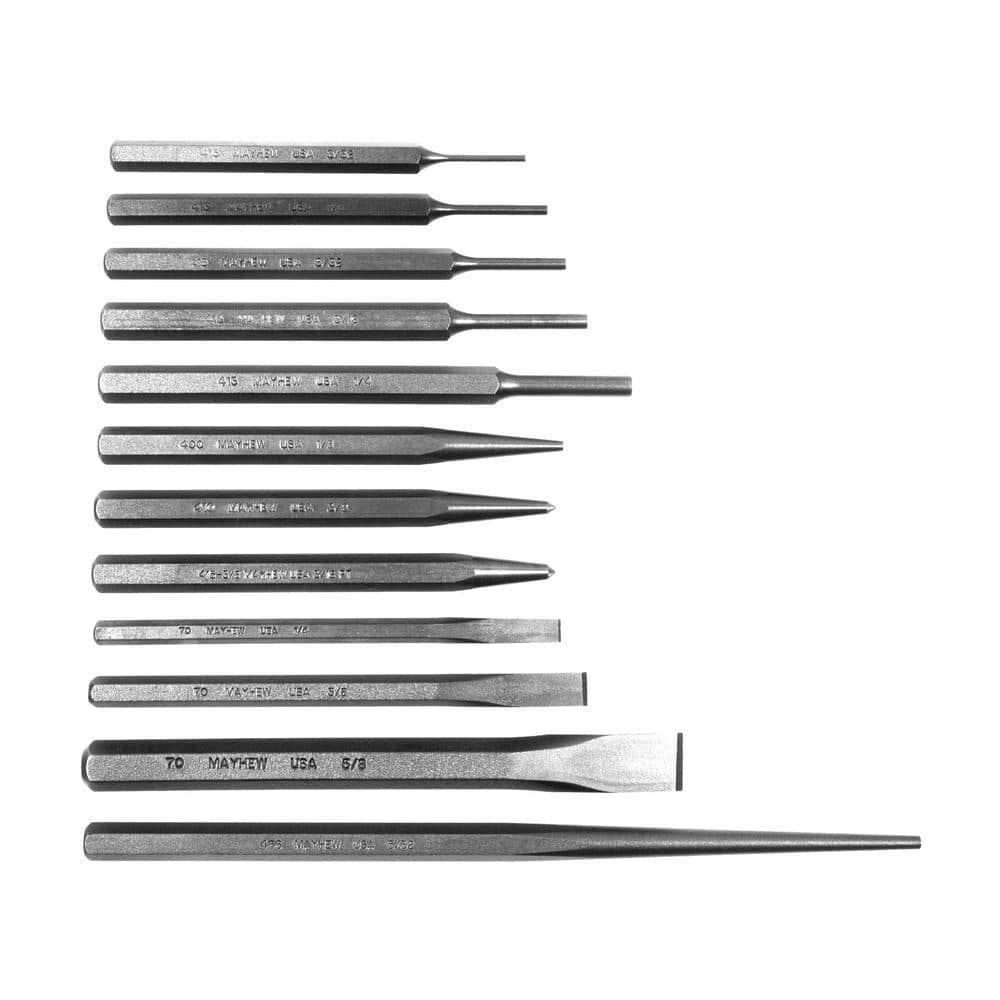 Mayhew MAY-81353 24pc Punch Et Chisel Set Avec Gratuit 5 PC Pin Punch Set