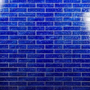 Rhythmic Blue Dusk 2 in. x 9 in. 12mm Glazed Clay Subway Tile (30-piece 4.63 sq. ft. / box)