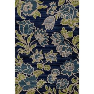 Art Carpet Arabella Tilework Blue 8 Ft X 11 Ft Area Rug 841864101157 The Home Depot