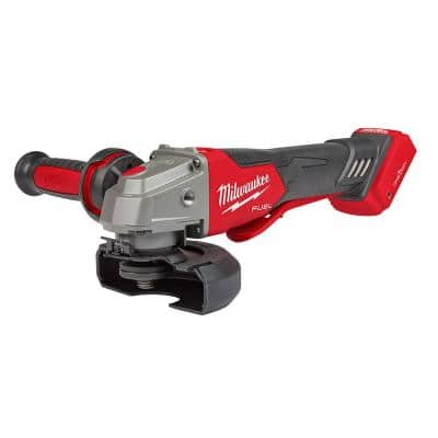 M18 FUEL 18-Volt Lithium-Ion Brushless Cordless 4-1/2 in./5 in. Braking Grinder With Paddle Switch (Tool-Only)