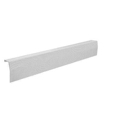 Premium Series 5 ft. Galvanized Steel Easy Slip-On Baseboard Heater Cover in White