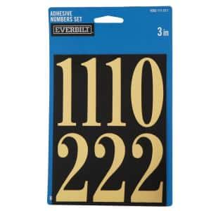 3 in. Mylar Peel and Stick Numbers Pack