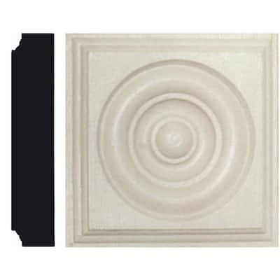 1-1/8 in. x 5-1/2 in. x 5-1/2 in. MDF Rosette Block Moulding
