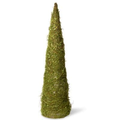 36 in. Cone Tree with Moss