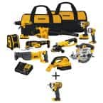 20-Volt Max Cordless Combo Kit (10-Tool) with (2) 20-Volt 2.0Ah Batteries, Charger & 3/8 in. Impact Wrench