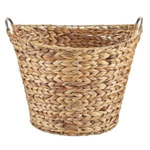 Large Round Water Hyacinth Wicker Laundry Basket