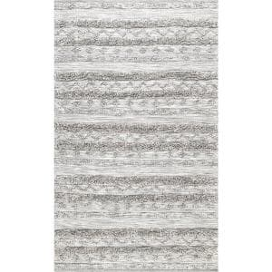 Josiah High Low Tribal Gray 9 ft. x 12 ft. Area Rug