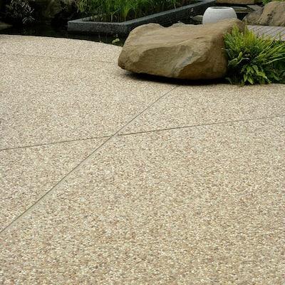Pebblini Mini Sandstone 12 in. x 12 in. Pebble Stone Mosaic Tile (10.63 sq. ft. / Case)