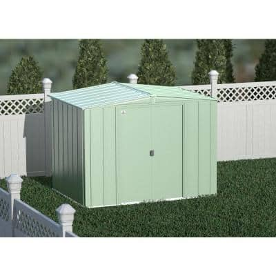 Classic 8 ft.W x 6 ft. D Sage Green Steel Storage Shed