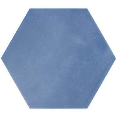 Eclipse Blue 7.79 in. x 8.98 in. Matte Porcelain Floor and Wall Tile (6.03 sq. ft. / Case)