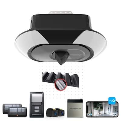 1-1/4 HP LED Video Quiet Belt Drive Garage Door Opener with Integrated Camera