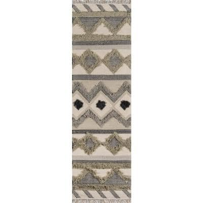 Indio Avalon Sage 2 ft. 3 in. x 7 ft. 10 in. Indoor Runner Rug