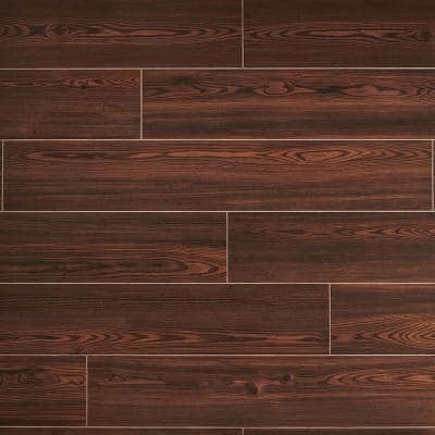Balsa Mocha 8 in. x 48 in. Matte Porcelain Floor and Wall Tile (15.49 sq. ft./Case)