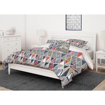 Lane 5-Piece Multi Colored Ultra-Soft Microfiber Full/Queen Comforter Set