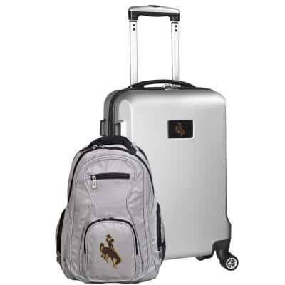 Wyoming Cowboys Deluxe 2-Piece Backpack and Carry-On Set