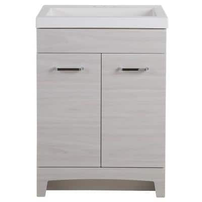 Stancliff 24.50 in. W x 18.75 in. D Bath Vanity in Elm Sky with Cultured Marble Vanity Top in White with White Basin